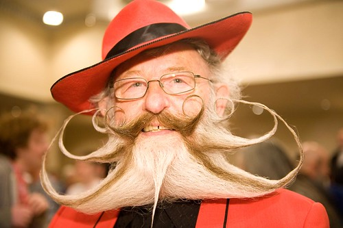 Gerhard Knapp, 2nd Place in the Freestyle Beard category, World Beard and Moustache Championships 2011