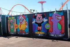 Coney Island - Coney Art Walls: Coney Island Grinnies by Ron English (wallyg) Tags: brex brooklyn coneyartwalls coneyisland grinninmc grinninmickey kingscounty mural newyork newyorkcity ny nyc ottotopsy ronenglish streetart coneyislandgrinnies