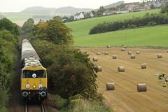 20096+20107 Newburgh, Fife (Paul Emma) Tags: uk scotland railway railroad dieseltrain train class20 20096 20107 class47 47739 gbrf15 tour railtour newburgh fife