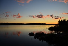 Sunset (Villikko) Tags: finland nikon d5100 landscape lake sunset clouds cloud evening night summer suomussalmi auringonlasku jrvi