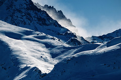Roc des Trois Marches (Mathijs Buijs) Tags: mountain mist weather contrast jagged rocks roc des trois marches les menuires vallees val thorens france western europe alps canon eos 7d