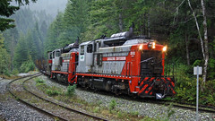 WFP 302 ~ Nimpkish Shops (Chris City) Tags: train railway railroad shortline spur wfp vancouverisland nimpkishvalley rainforest