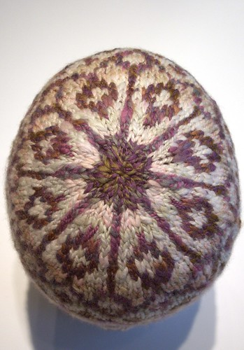 Reflection hat made with handspun yarn-1
