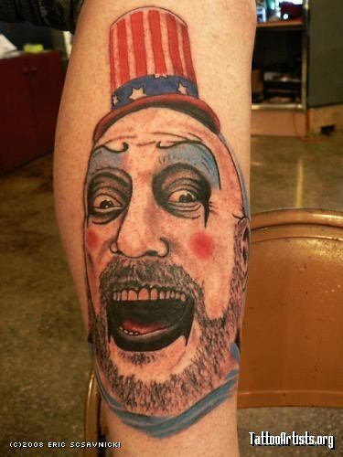 Captain Spaulding Tattoo. Tattoo by Eric Scsavnicki