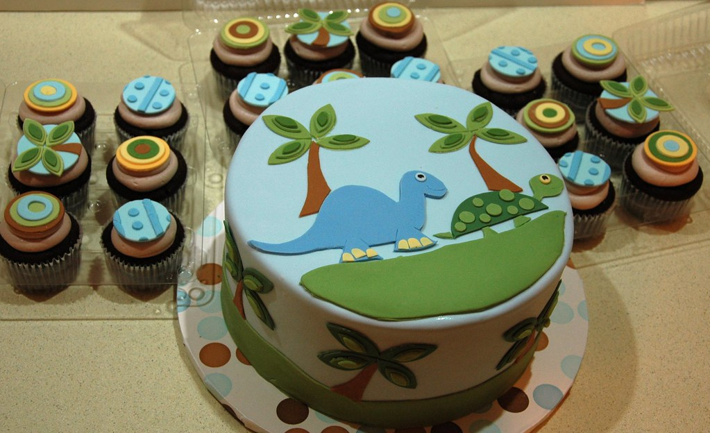 Tropical Dinosaur Baby Shower