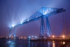 Light Fantastic (DWH284) Tags: industrialheritage rivertees teestransporterbridge middlesbroughtransporterbridge middlesbroughuk