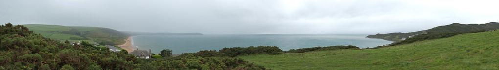 Woolacombe panorama from the hill