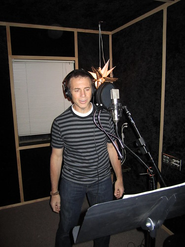 Dave in the vocal booth