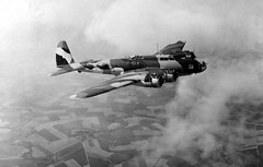 Today in 1936 - Boeing YB-17 Maiden Flight (KurtClark) Tags: usa public us force air camouflage boeing bomber domain yb17