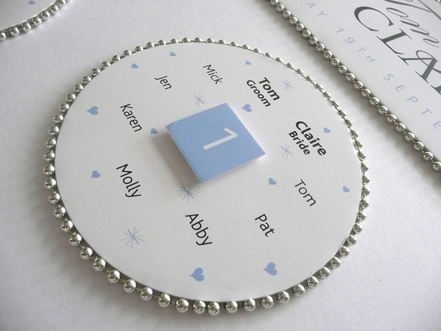 Beaded Wedding Table Plan - Pale Blue Detail2 by Wedding Table Plans