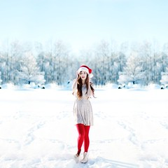 elf. (karrah.kobus) Tags: santa christmas family winter snow me girl self elf omgflickrsharpening