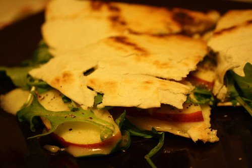 Brie, Apple and Arugula Quesadilla