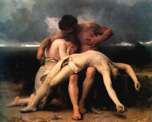 EL PRIMER DUELO William Adolphe Bouguereau 1888 Museso nacional Bellas Artes BUENOS AIRES