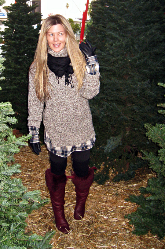 At the christmas tree lot 2010+cold