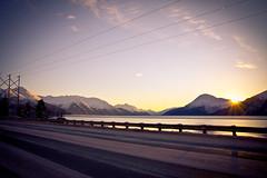 Seward Highway Sunrays (Tyler.Derosier) Tags: winter snow mountains alaska scenic ak sewardhighway