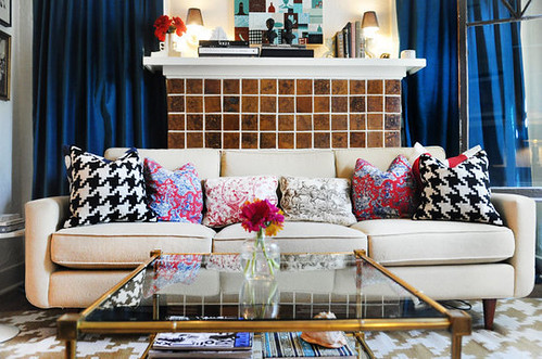 Apartment Therapy Houndstooth Pillows