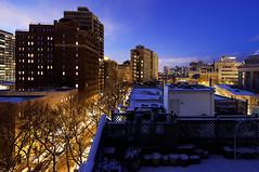 (Kevin Dickert) Tags: street city longexposure urban chicago skyline architecture night buildings twilight cityscape dusk wideangle nighttime lakeview lincolnpark highrises nightfall density tiltshift urbanity canon5dmarkii iamhydrogen kevindickert canontse17mmf4l canon17tse