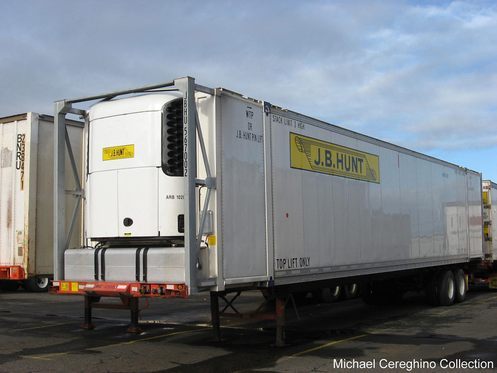 J.B. Hunt refrigerated Intermodal container