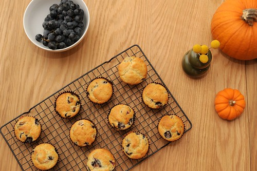 concord grape rosemary muffins