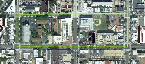 site of Living City Block DC (via Google Earth)