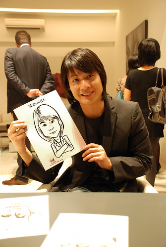 Portrait & Caricature live sketching for Molteni & C - 16