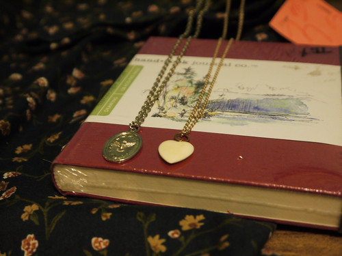 Book and necklaces
