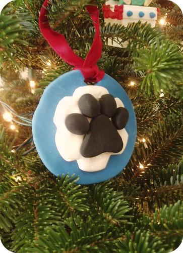 Brian Paw Print Ornament