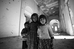 Children of Darulaman Palace (Michal Przedlacki) Tags: house afghanistan home children palace conflict fighting kabul afganistan hazara kuchi darlaman