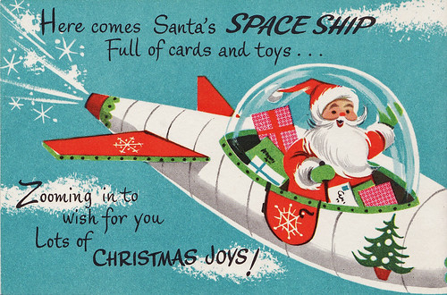 Santa's Space Ship by Calsidyrose
