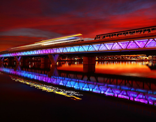 Phoenix Light Rail Sunset