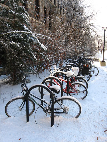 Used bike racks at Dana