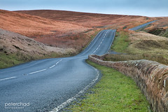 Road_over_the_moor (PeterChad) Tags: road travel car bike wall speed crash accident heather country transport pass scenic peaceful scene calm lancashire direction lane infrastructure biker openroad winding tt fleet moor tranquil chippy verge clitheroe bowland acceleration grassverge longandwindingroad welcomeuk