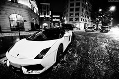 Lamborghini Gallardo LP560-4 Spyder (Valkarth) Tags: auto white snow paris france blanco car night noche photo julien italian automobile europe italia photographer cab champs 8 automotive it spot voiture spyder v coche lp carro neige avenue 75 rue julius lamborghini nuit bianco blanc georges supercar italie 8th spotting gallardo 2010 decembre lambo 560 photographe valk elyse santagata italienne fouquets 5604 monocerus lp5604 560hp 560bhp 560cv valkarth fautrat 560ch xothum