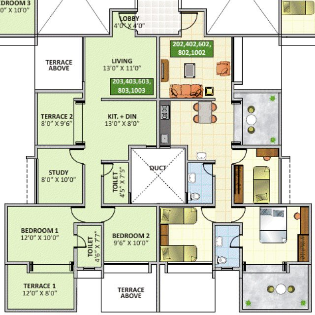 eva bavdhan 2.5 bhk flat even floors