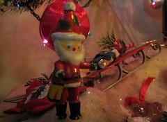 Tiny Santa Under My Christmas Tree - 12/13/10 (Robb Wilson) Tags: christmaslights chistmas christmastreedecorations