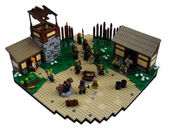 ...To give to the poor (Krrde) Tags: castle classic village lego contest medieval thatch colossal