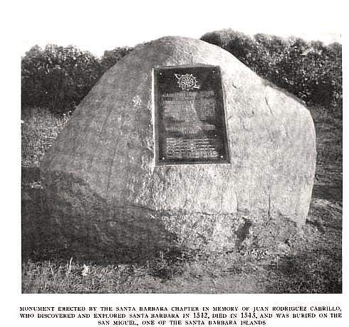 Original Cabrillo Monument Santa Barbara