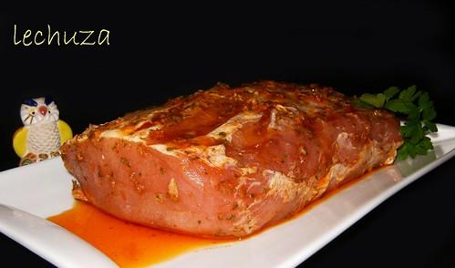 Lomo de cerdo asado-adobado