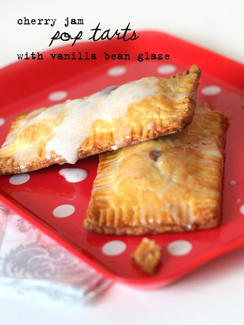 cherry pop tarts with vanilla bean glaze