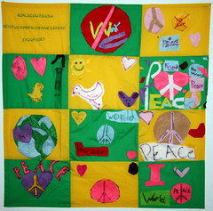 Girl Scout Troop 1087 and Lori Angel from Lexington, KY (International Fiber Collaborative, Inc.) Tags: newyork london art home water rain kids stars visions washington community war peace anniversary kentucky space dream conservation felt nasa explore health scouts express reach olympics breastcancer global discover sochi saturnvrocket presidentobama internationalfibercollaborative thedreamrocket