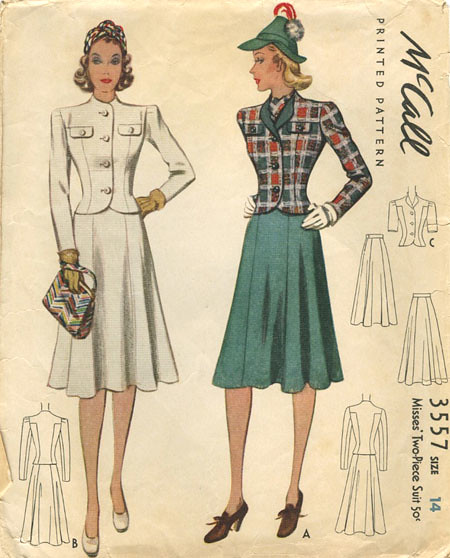 1940s Vintage Sewing Pattern