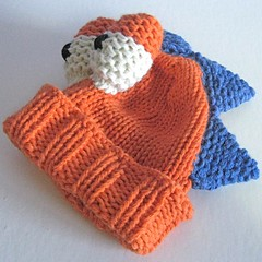 Orange Dino hat