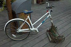 Redneck Riding Lawnmower (jc-pics) Tags: lawn cellphone motorola mower droid