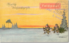 1915 Christmas Postcard WW1 (MomentsBeingMe) Tags: christmas weihnachten deutschland german ww1 1wk 1915 christmascard postkarte pickelhaube christmaspostcard weihnachtsgrse herzlicheweihnachtsgrse