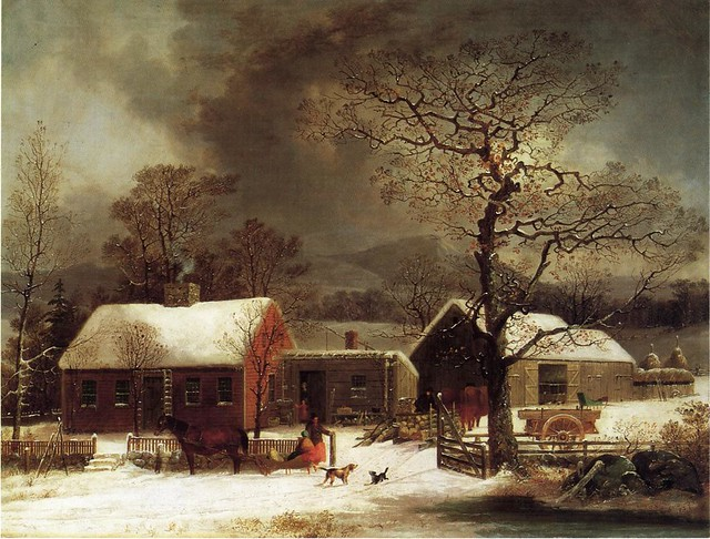 Winter Scene in New Haven, Connecticut 1858
