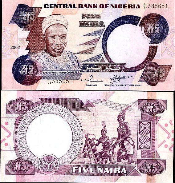 5 Naira Nigéria 1984-2005, P24