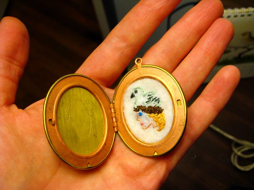 Locket + Embroidery http://mostlystitches.blogspot.com