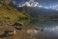 Lac Lioson (Philippe Saire || Photography) Tags: mountain lake alps nature water rock montagne alpes canon landscape eos switzerland eau suisse pierre lac sigma wideangle 1020mm paysage hdr gettyimages photomatix 450d lioson philippesaire