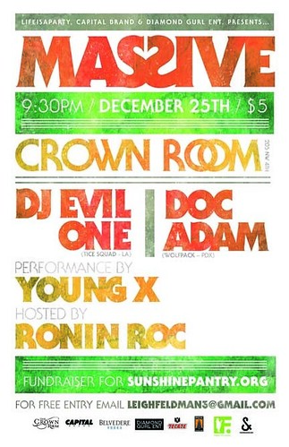 MASSIVE Portland Christmas Dance Party @ Crown Room & Benefit For Benefit for SunshinePantry.org