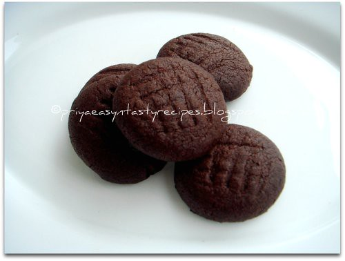 Eggless Chocolate Butter Cookies